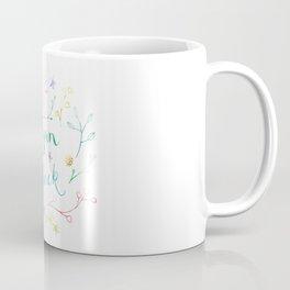 Vegan As Fuck Floral Watercolour Calligraphy Print Coffee Mug