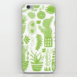 Cactii Textured Print Pattern iPhone Skin