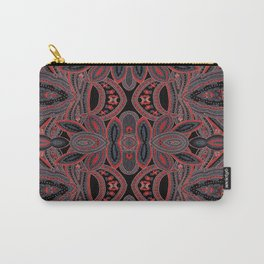 Paisley 5 Red Carry-All Pouch