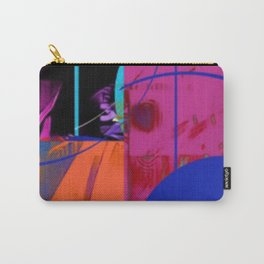 Blue Sticker Abstract Carry-All Pouch