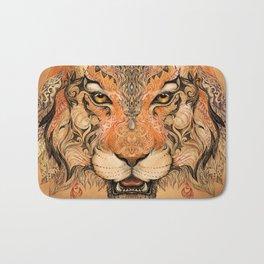 Indian Tiger Tattoo Bath Mat