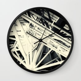 Spider Roof Struts Abstract Wall Clock