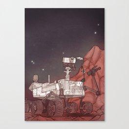 The Mars Rover Curiosity Canvas Print
