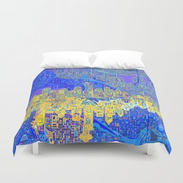 seattle city skyline Duvet Cover