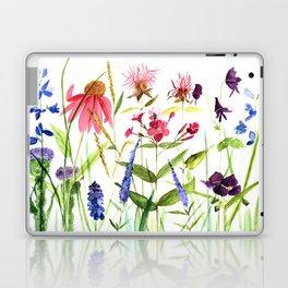 Botanical Colorful Flower Wildflower Watercolor Illustration Laptop & iPad Skin