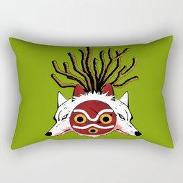 Wolf Princess Rectangular Pillow