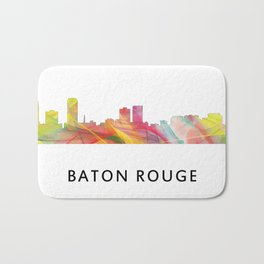 Baton Rouge Louisiana Skyline Bath Mat