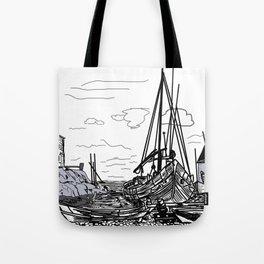 boats on the sea . artwork Tote Bag