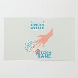 Citizen Kane, minimal movie poster, Orson Welles film, hollywood masterpiece, classic cinema Rug