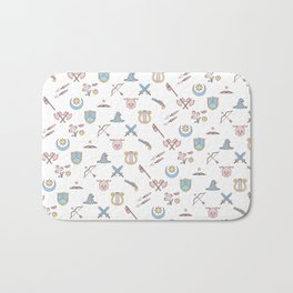 Cute Dungeons and Dragons classes Bath Mat