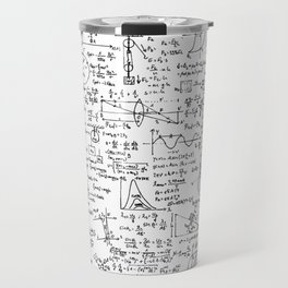 Physics Equations on Whiteboard Travel Mug