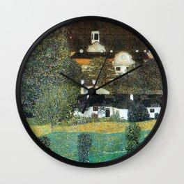 """Gustav Klimt """"Schloss Kammer on the Attersee II"""" Wall Clock"""