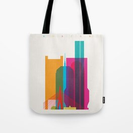 Shapes of Boston. Accurate to scale Tote Bag