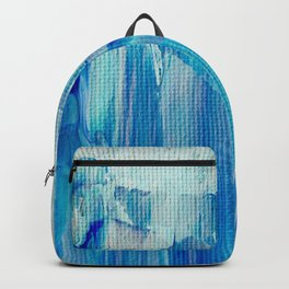 Abstract Blue Acrylic Painting With Brush Strokes Backpack