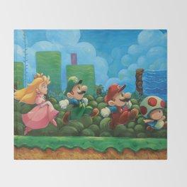 Super Mario Bros 2 Throw Blanket