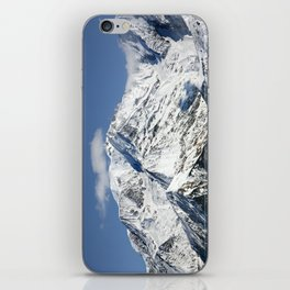 Mt. Blanc with clouds iPhone Skin