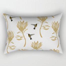 Hummingbird & Flower I Rectangular Pillow