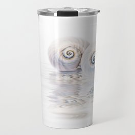 Snail Shells On Water Travel Mug