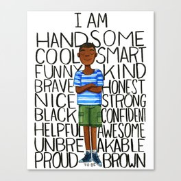 Proud to be Brown (boy) Canvas Print