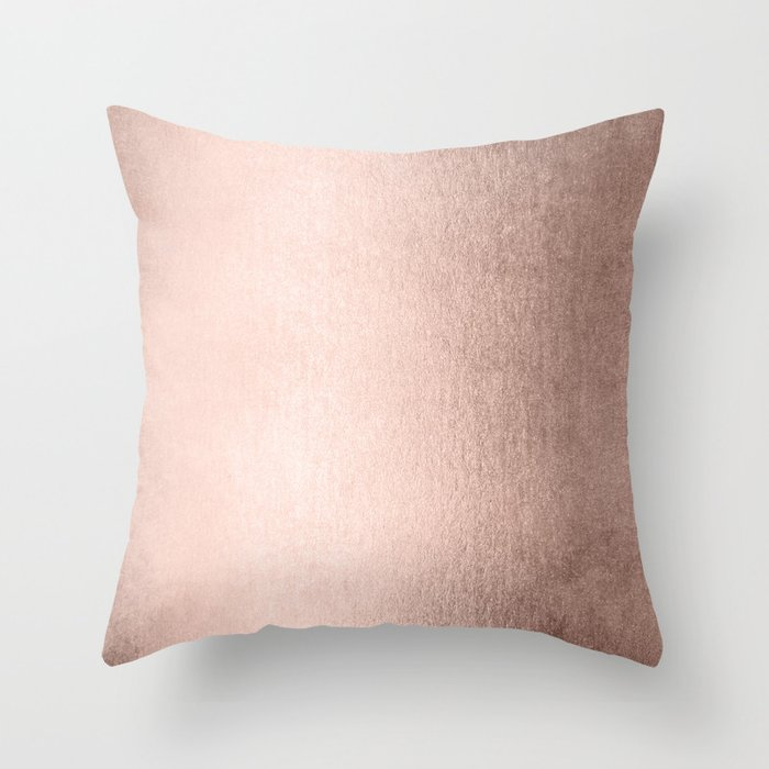 Moon Dust Rose Gold Throw Pillow