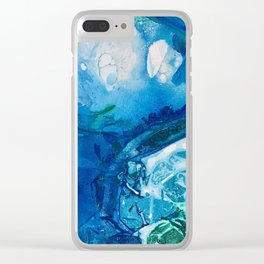 Deep Blue Ocean Life Clear iPhone Case