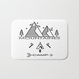 vintage mountaines camping design Bath Mat