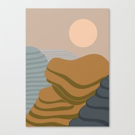 Terraced fileds Canvas Print