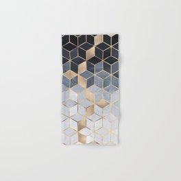 Soft Blue Gradient Cubes Hand & Bath Towel