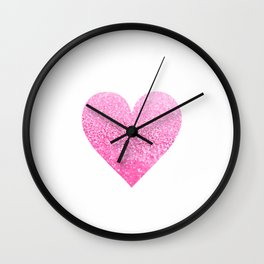 PINK HEART Wall Clock