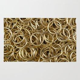 Gold Rings Rug