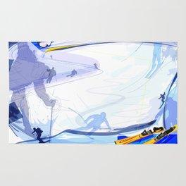 Downhill Skiing Rug