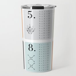 TIMES TABLE - ORANGE Travel Mug