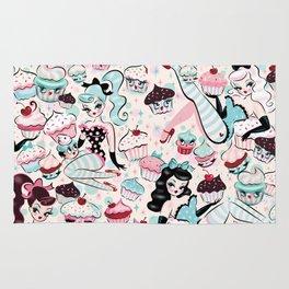 Cupcake Dolls Pattern Rug