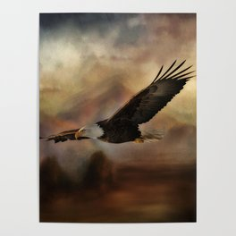Eagle Flying Free Poster