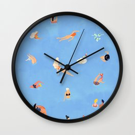 Summer Weekend #painting #illustration Wall Clock