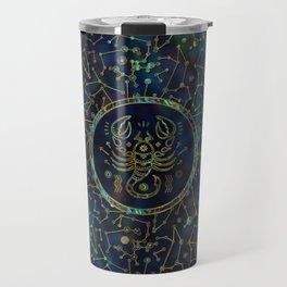 Scorpio Zodiac Gold Abalone on Constellation Travel Mug