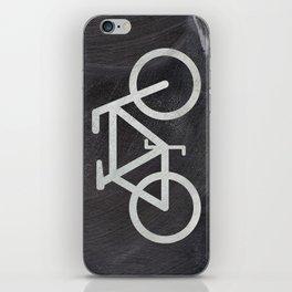 Bicycle on chalkboard iPhone Skin
