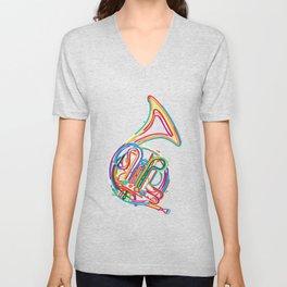 French horn Unisex V-Neck