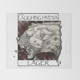 GMDs Laughing Hyena Lager Throw Blanket