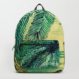 50,S RETRO PELICAN TROPICAL ART DECO PRINT Backpack