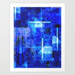 Sapphire Nebulæ Art Print
