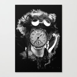 Steampunk Time Traveller Canvas Print