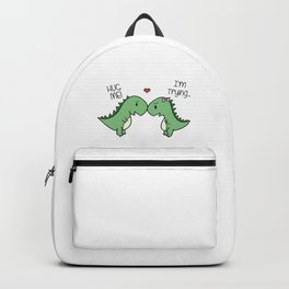 Sad T-Rex Love Backpack