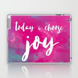 today i choose joy - watercolor pink Laptop & iPad Skin