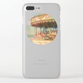 Circling Horses Clear iPhone Case