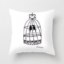 Birdcage Throw Pillow