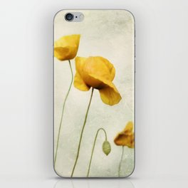 Yellow Poppies iPhone Skin
