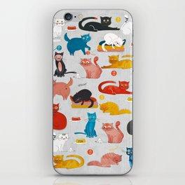 Playful Cats - illustration iPhone Skin