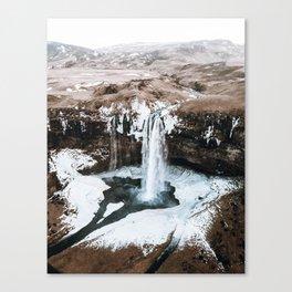 Waterfall / Seljalandsfoss, Iceland Canvas Print