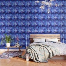 GAlaxy Periwinkle Stars Wallpaper